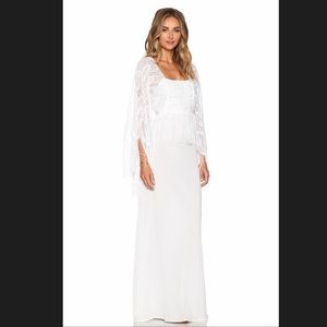 NWT! Miguelina Chelsea White Fringe Maxi Dress 🕊